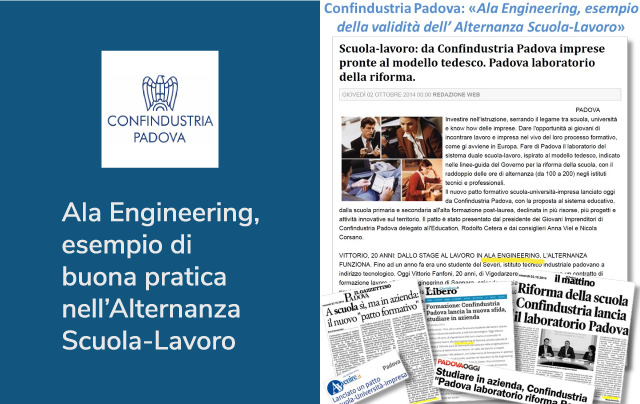 Alternanza Scuola-Lavoro Ala Engineering e Confindustria